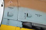 Handlochdeckel des Öltanks, Hebelverschlüsse der Triebwerkverkleidung und Lufthutzen