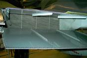 Rückseitige Detailansicht des Kühlstoffkühlers und der Kühlklappen