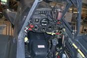 Sicht ins Cockpit und auf das Instrumentenbrett der Messerschmitt Bf 109 G-2