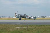Warten auf den Start zur Vorführung der Messerschmitt Bf 109 G-4 im Flug