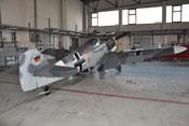 Ansicht der Messerschmitt Bf 109 G-4 von hinten rechts