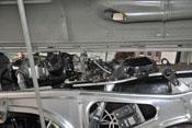 Stoßdrahtgeber, Gehäuse- und Zylinderdeckelentlüftung und Zwillings-Zündmagnet des Daimler-Benz DB 605