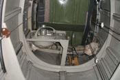 Blick auf den Mutterkompass und den 400-Liter-Kraftstoffbehälter