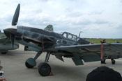 Ansicht der Messerschmitt Bf 109 G-6 FM+BB von vorne links