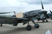 Abdeckung des Bf-109-Cockpits zum Schutz vor der Witterung