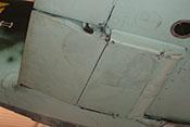 Rechter Kühlstoffkühler der Messerschmitt Bf 109 mit geschlossenen Klappen
