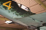 Kühlstoffkühler der Messerschmitt Bf 109 G-6 mit geschlossenen Klappen