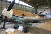 Messerschmitt Bf 109 G-2 'WNr. 10575' im Hangar 3 des Militärhistorischen Museums in Berlin-Gatow