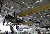 Britischer Bomber Royal Aircraft Factory R.E.8 von 1916 im Imperial War Museum Duxford