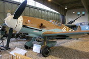 Messerschmitt Bf 109 G-2 'Gelbe 4' im Luftwaffenmuseum in Berlin-Gatow