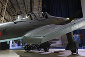 Innere und äußere Verstellklappe an der Tragflächenhinterkante der Junkers Ju 87 G-2