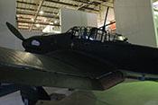 Blick auf das Cockpit und die linke Rumpf-Seitenwand der Junkers Ju 87 G-2
