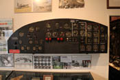 Hauptinstrumentenbrett einer Boeing B-17 'Fliegende Festung'