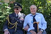 Pavel Vransky, tschechischer WK2-Veteran, und Heinz Federwisch, ehem. Stabsmitglied der III. Gruppe / JG4