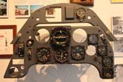 Instrumentenbrett einer Messerschmitt Bf 109