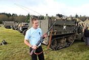 Kruger mit einem erbeuten B.A.R. - Browning Automatic Rifle