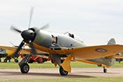 Hawker Sea Fury MkII G-CBEL (1953) mit 18-Zylinder-Doppelsternmotor Bristol Centaurus XVIII (Hubraum 53,6 Liter / 2.555 PS)