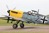 Schwarze 2 mit Gelbnase - Hispano Aviación Buchon (spanischer Lizenzbau der Messerschmitt Bf109)
