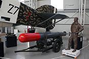 Lufttorpedo von dem Heck der Savoia-Marchetti SM79 Sparviero