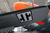 Flugzeugkokarde der Italienischen Sozialrepublik 1943 - 1945 auf der Tragfläche der Fiat G 55 'Centauro'