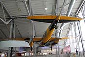 Heckansicht der de Havilland Mosquito TT35