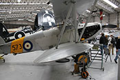 Hawker Nimrod Mk I 'S1581' Doppeldecker mit der taktischen Nummer 573