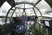Blick in das noch unvollständige Cockpit der Bristol Blenheim Mk IV