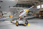Doppeldecker und trägergestütztes Jagdflugzeug Hawker Nimrod II 'K3661' von 1934