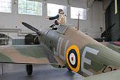 Jagdflugzeug Hawker Hurricane Mk IIb 'Z2315' JU-E im Battle-of-Britain-Hangar des IWM