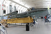 Deutsche Flügelrakete V1 'Vergeltungswaffe 1' auf Abschussrampe