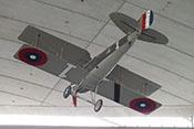 Nachbau des französischen Doppeldecker-Jagdflugzeuges Spad XIII 'S-13' von 1917