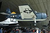 Seitenansicht des Torpedobombers Grumman TBM-3 'Avenger'