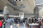 Heckgeschützstand der Consolidated B-24 'Liberator' zwischen den Höhen- und Seitenleitwerken