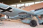 Tragfläche und Fahrwerk der Messerschmitt Bf 109/G-2