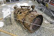 Teile eines Junkers Jumo 004 Strahltriebwerks (Turbojet mit Axialverdichter)