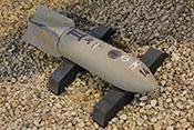 Deutsche SC50-Sprengbombe mit Zünder 55