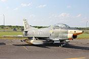 """Leichtes Erdkampf- und Aufklärungsflugzeug Fiat G. 91 R/3 """"Gina"""" 99+12 (W.Nr. 554), das erste nach dem 2. Weltkrieg in der BRD gebaute Strahlflugzeug"""