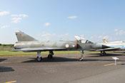 """Jagdflugzeug Dassault Mirage IIIE (Werknummer: 587), das europäische Konkurrenzmuster zur F-104 """"Starfighter"""""""