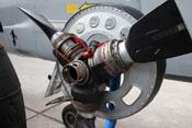 Schnittmodell einer Luftschraubenverstellanlage