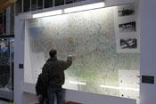 Landkarte mit Markierungen von Absturzorten in Belgien