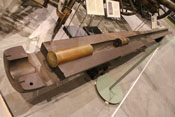 Ausgebrannter Geschützlauf einer 15-cm-Kruppkanone