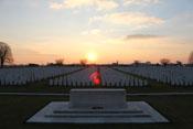 Britischer Soldatenfriedhof in Poelkapelle mit ca. 7.500 Gräbern