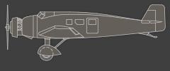 Landflugzeug mit Radfahrwerk